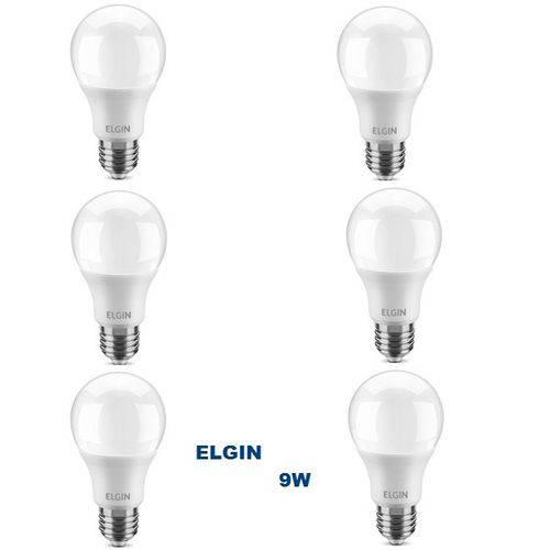 Kit com 6 Lâmpadas LED BULBO 9W ELGIN A60