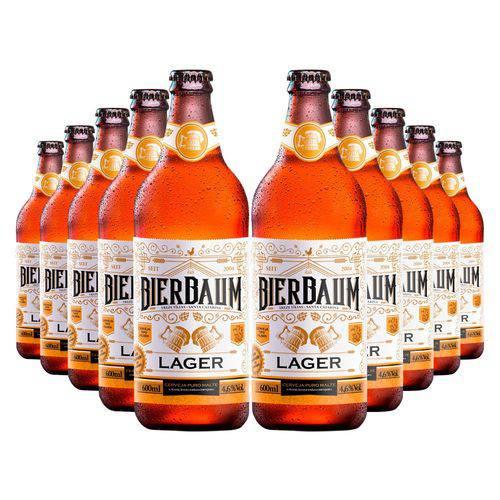 Kit com 60 Cervejas Bierbaum Lager 600ml