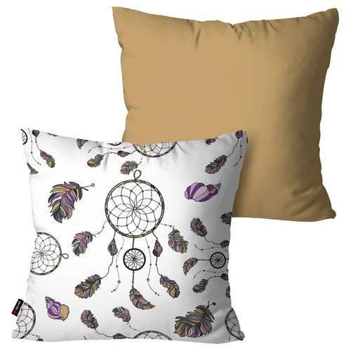 Kit com 2 Almofadas Decorativas Bege Filtro dos Sonhos
