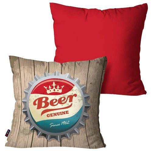 Kit com 2 Almofadas Decorativas Vermelho Beer