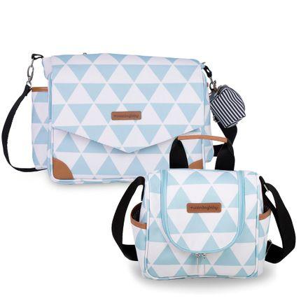Kit com 2 Bolsas - Mommy + Emy - Manhattan Azul - Masterbag