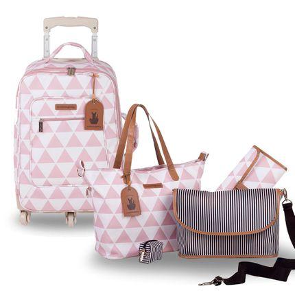 Kit com 2 Bolsas - Rodinha + Sofia - Manhattan Rosa - Masterbag