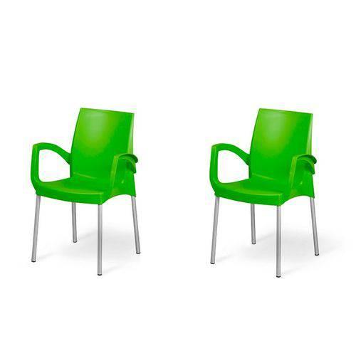 Kit com 2 Cadeiras Jasmim Verde Planmar