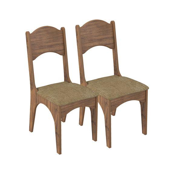 Kit com 2 Cadeiras Nina - Nobre Fosco