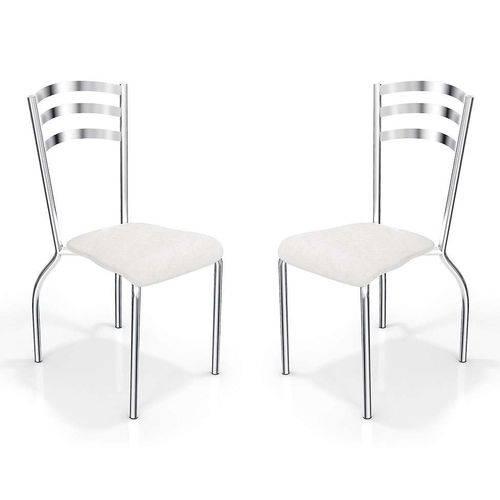 Kit com 2 Cadeiras Portugal Branca Kappesberg