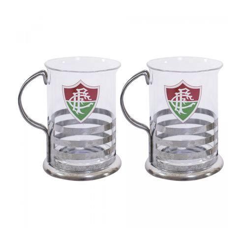 Kit com 2 Canecas de Vidro 220ml Fluminense