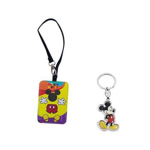 Kit com Chaveiro e Tag para Malas ou Mochilas Mickey Mouse - Disney