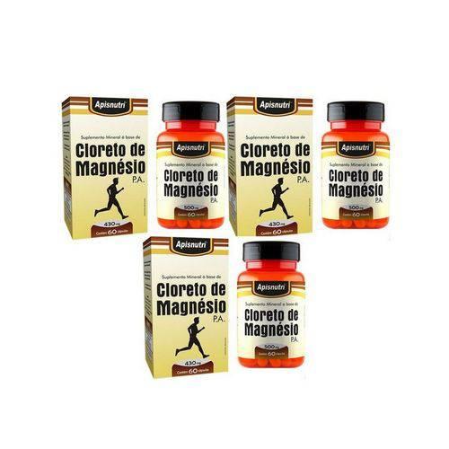 Kit com 3 Cloreto de Magnésio P.A com 60 Cápsulas Cada - Apisnutri