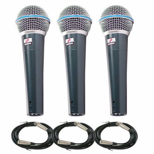 Kit com 3 Microfones Arcano Beta58 (bt-58) Osme8