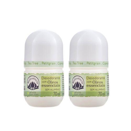 Kit com 2 Unidades do Desodorante Roll-on Natural de Tea Tree 70ml – BioEssência
