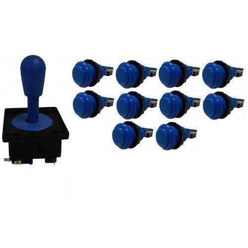 Kit Comando Aegir 10 Botões de Nylon - Azul