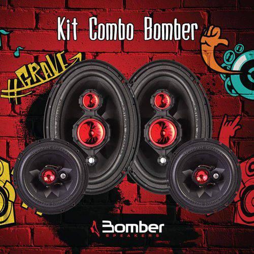 Kit Combo Bomber Alto Falante Par 6 Polegadas + Par 6x9 Polegadas