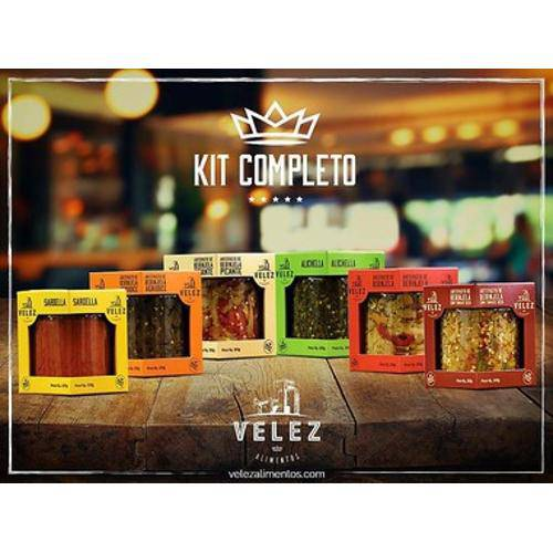 Kit Completo com 6 Antepastos Velez