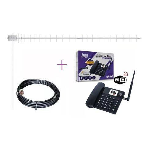 Kit Completo Internet Rural Sem Fio Telefone 3g com Roteador Antena de 20dbi