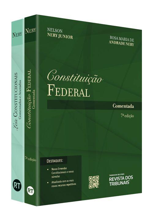 Kit Constituição Federal Comentada + Leis Constitucionais Comentadas e Anotadas