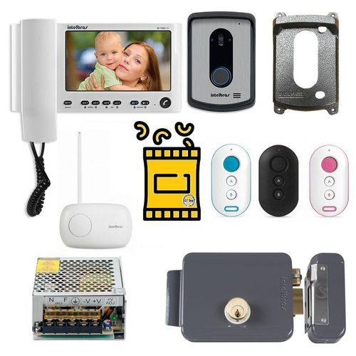 Kit Controle Acesso Residencial Video Completo Intelbras