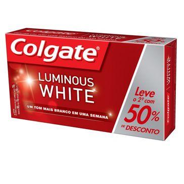 Creme Dental Colgate Luminous White Brilliant Mint 70g Promo Leve o 2º com 25% Desconto