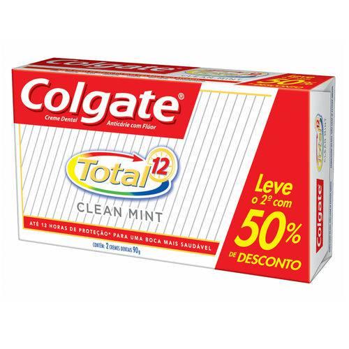 Kit Creme Dental Colgate Total 12 Clean Mint 90g 2 Unidades