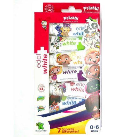Kit Creme Dental Edel White Kids Fruchtli 7 Unidades