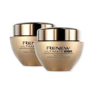 Kit Creme Facial Antirrugas Renew Ultimate Multiação | Noite Kit Creme Facial Antirrugas Renew Ultimate Multiação - Noite