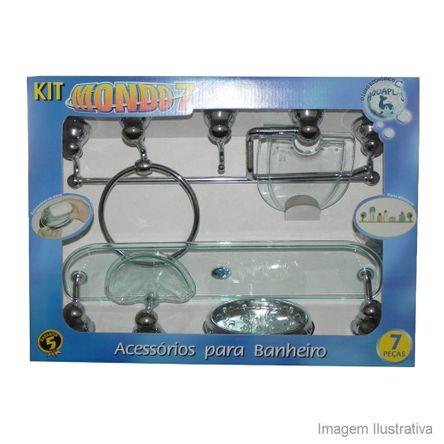 Kit de Acessórios para Banheiro 7 Peças Mondo Verde Aquaplás