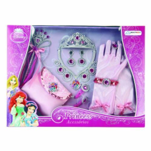 Kit de Acessórios Princesas 12 Peças - BR627