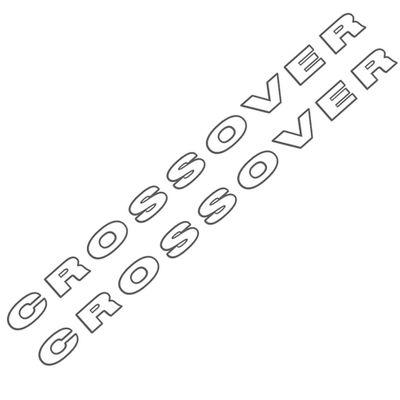 Kit de Adesivos Laterais Crossover para Saveiro G4 2006 a 2009 Cor Grafite