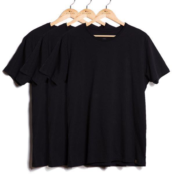 Kit de 3 Camisetas Básicas - Pretas