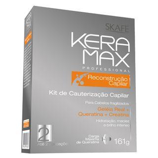 Kit de Cauterização Capilar Skafe Keramax Reconstrução Capilar Kit
