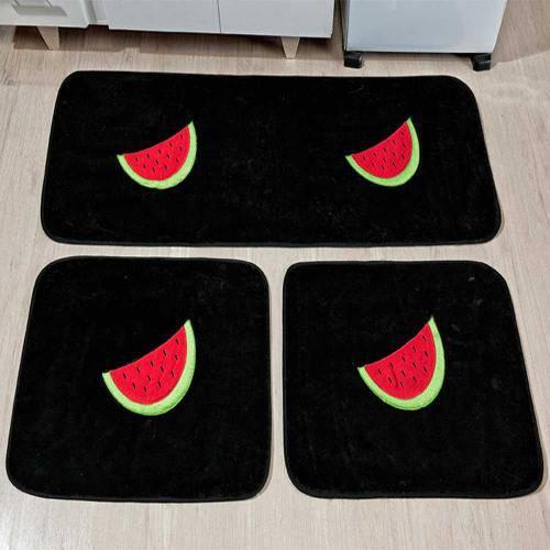 Kit de Cozinha Melancia 3 Peças Preto