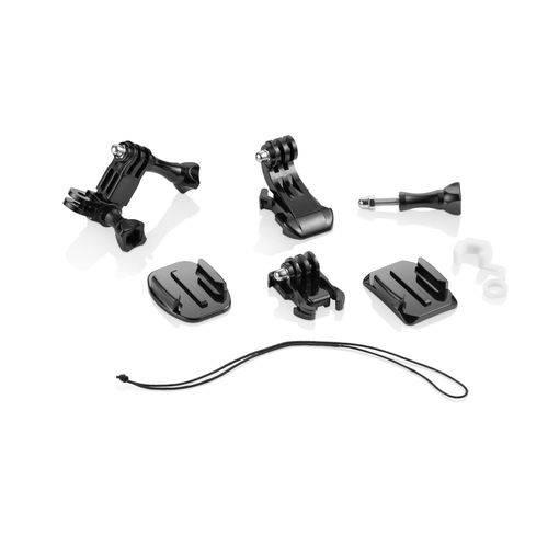 Kit de Encaixes Action Cam Multilaser Preto - Es066
