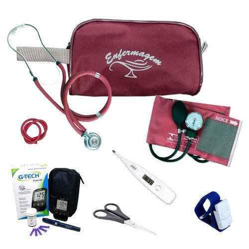 Kit de Enfermagem 3 C/ Nec. e Aparelho Vinho