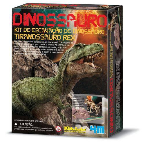Kit de Escavação - Tiranossauro Rex - 4M - Brinq. Educativo