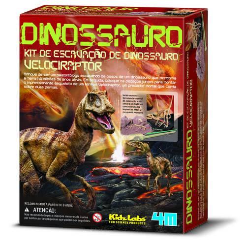 Kit de Escavação - Velociraptor - 4m - Brinquedo Educativo