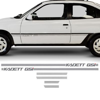 Kit de Faixas Adesivos Laterais - Kadett GSi - Grafite