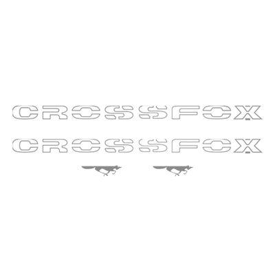 Kit de Faixas Decorativas Adesivos Laterais Crossfox 2003 a 2007 Prata Novo
