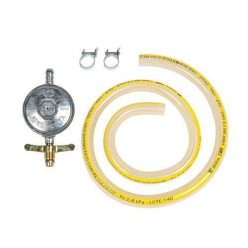 Kit de Instalação para Gás de Botijão Mangueira Plástica W10866789
