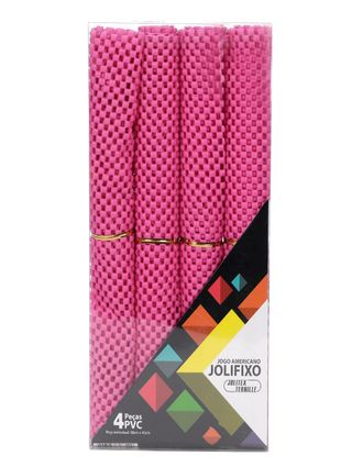 Kit de Jogo Americano Jolitex Rosa
