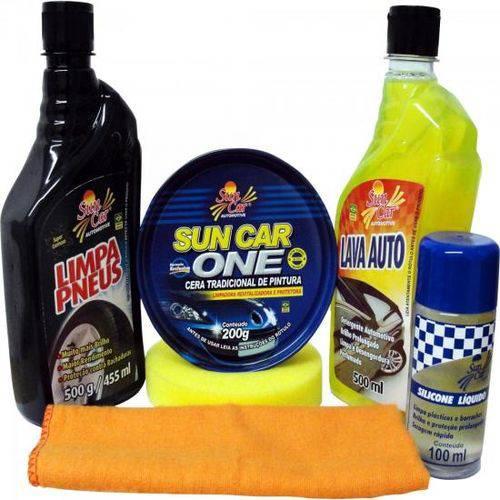 Kit de Limpeza Automotiva 6 Pecas Sun Car