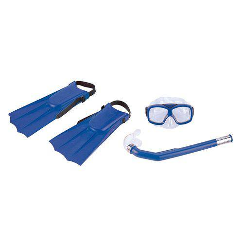Kit de Mergulho Infantil Diver Nautika (Azul)