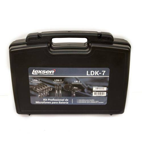Kit de Microfones para Bateria - Ldk-7 - Lexsen