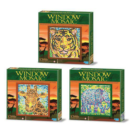 Kit de Mosaico de Janela - Safari - 4m - Brinquedo Educativo