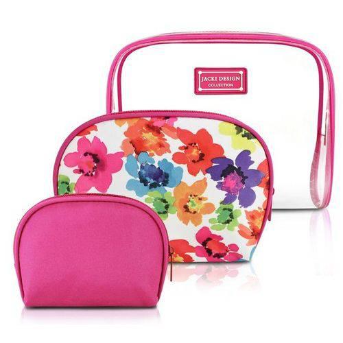 Kit de Necessaire de 3 Peças Pink Jacki Design