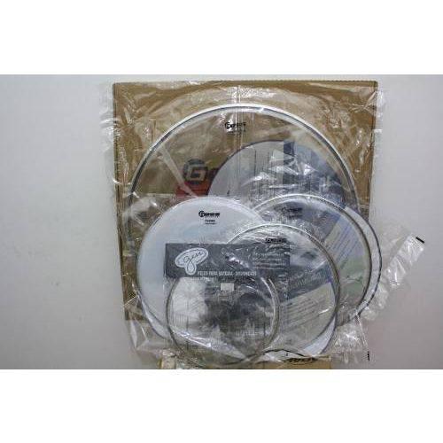 Kit de Peles P/ Bateria Adah Double Clear 08/10/16 e 13cx