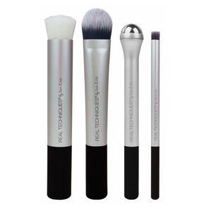 Kit de Pincéis Real Techniques Pré Maquiagem (4 Produtos) Conjunto