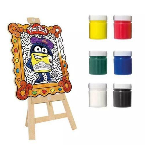 Kit de Pintura Play Doh Meu Pequeno Artista