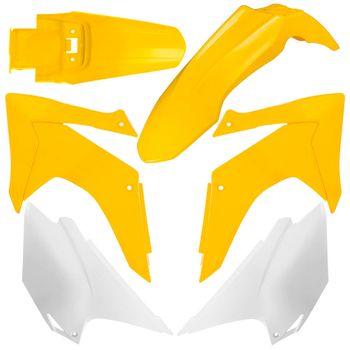Kit de Plástico Avtec CRF 230 2015 Amarelo/Branco