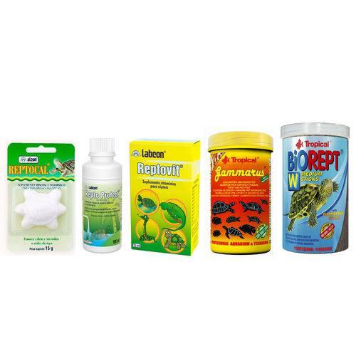 Kit de Produtos para Tartaruga - Combo Pequeno
