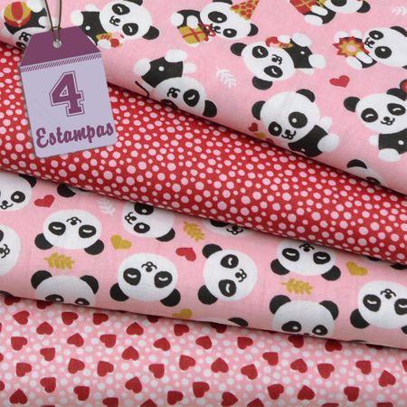 Kit de Tecido Pandas Baby (30x70) 4 Estampas