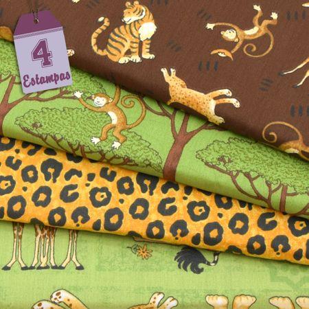 Kit de Tecido Selva By Debbie Mumm (30x70) 4 Estampas